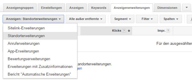 Lokale SEA - Standorterweiterung in Google AdWords