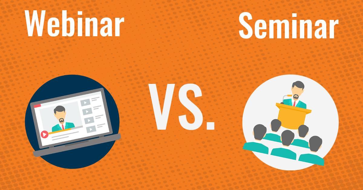 Care este diferenta intre webinar si seminar?