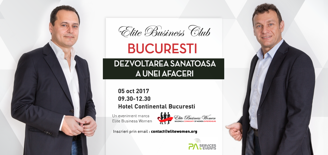 speakerii evenimentului Elite Business Club