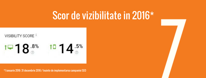 campanie seo re7consulting - scor de vizibilitate in 2016