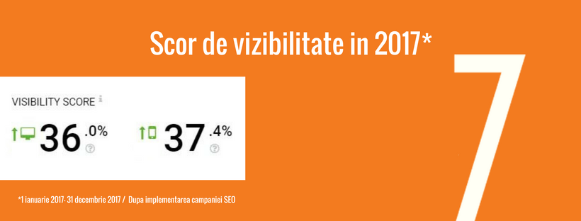 campanie seo re7consulting - scor de vizibilitate in 2017
