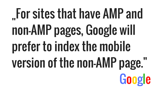 mobile first index Google AMP